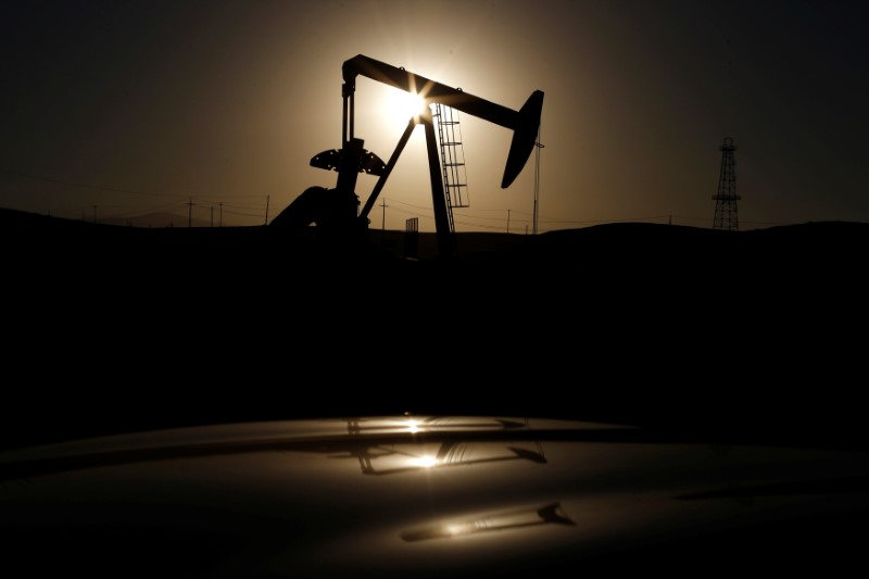 FILE PHOTO - A pump jack is seen at sunrise near Bakersfield, California October 14, 2014.   REUTERS/Lucy Nicholson/File Photo